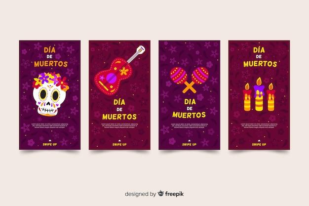 Dia de muertos instagram stories collection
