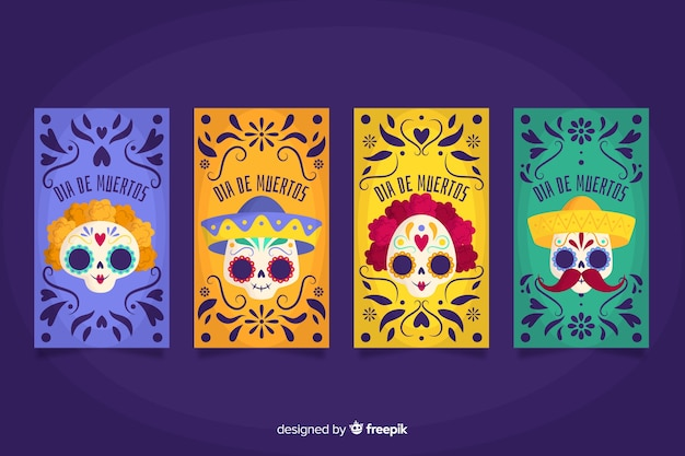 Día de muertos instagram stories collection