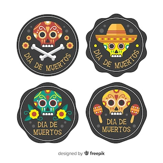 Dia de muertos label collection