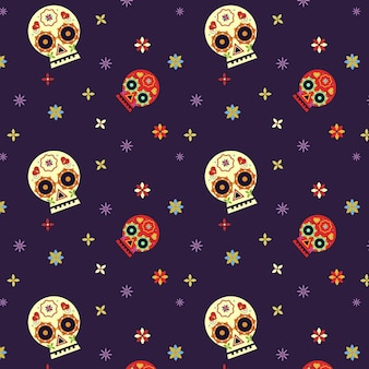 Dia de muertos pattern in flat design