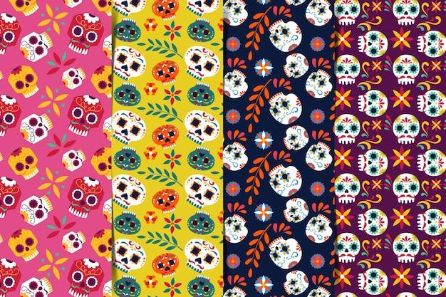 Día de muertos pattern in flat design