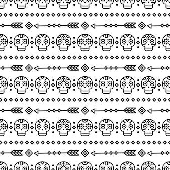 Dia de muertos pattern