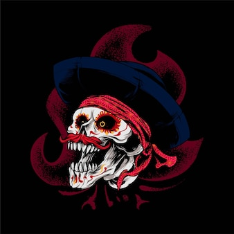 Dia de muertos skull illustration, perfect for t-shirt, apparel or merchandise design