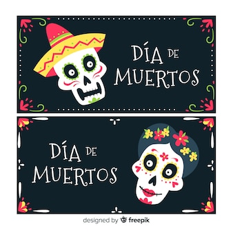 Баннеры día de muertos