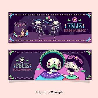 Дизайн баннеров día de muertos