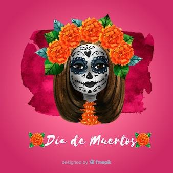 Прекрасный фон dia de muertos