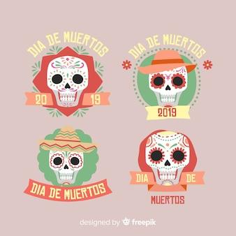 Коллекция симпатичных dia de muertos