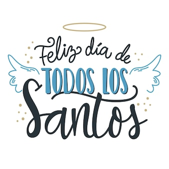 Dia de todos los santos надписи