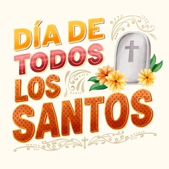 Día de todos los santos - надписи
