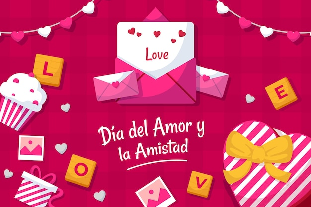Día del amor y amistad illustration