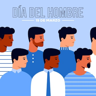Dia del hombre illustration in flat design