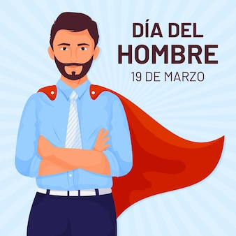 평면 디자인의 dia del hombre 그림