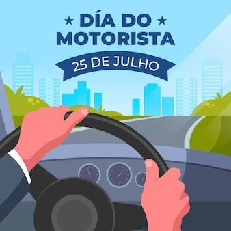 Иллюстрация празднования dia do motorista