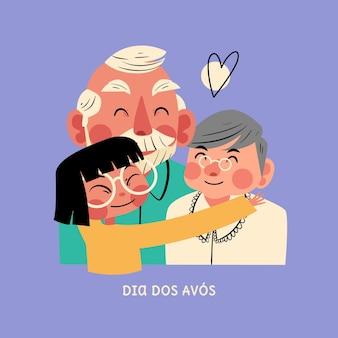 Dia dos avos celebrazione illustrazione