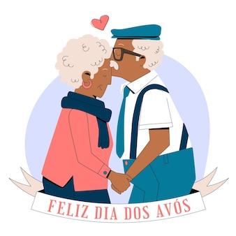 Dia dos avos celebrazione illustrazione Vettore gratuito