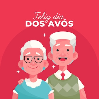 Dia dos avos concept in design piatto
