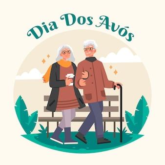 Концепция dia dos avos в плоском дизайне