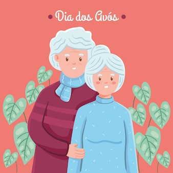 Dia dos avós drawing theme