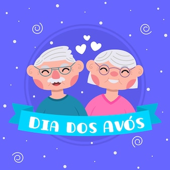 Dia dos avós in flat design