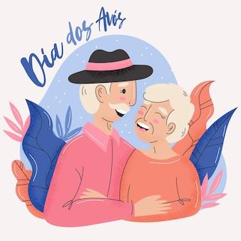 Dia dos avós illustrated