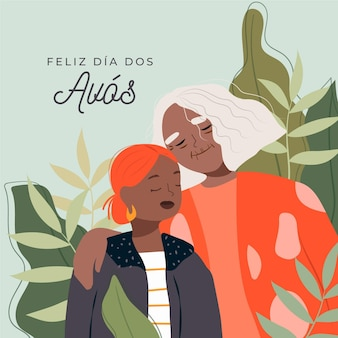 Dia dos avós illustration concept