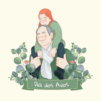 Dia dos avós with grandfather
