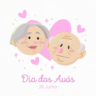 Dia dos avós with grandparents