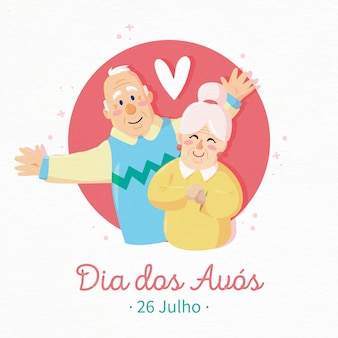 Dia dos avós with senior grandparents