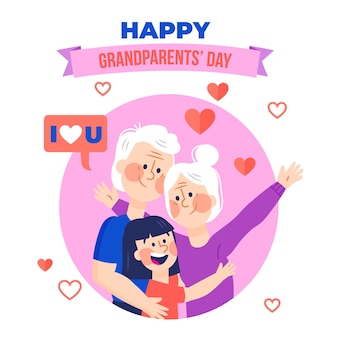 Dia dos avós иллюстрированная тема