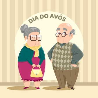 Dia dos avós концепция иллюстрации