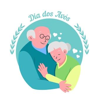 Концепция рисованной dia dos avós