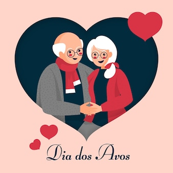 Dia dos avós с пожилыми людьми