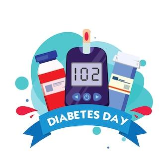糖尿病世界デーフラットアイコン