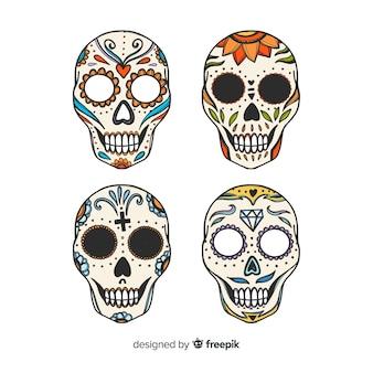 カラフルな手描きのdíade muertosの背景