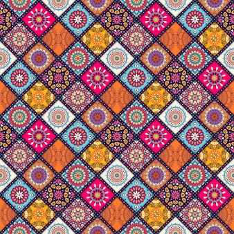 Diagonal background with mandalas