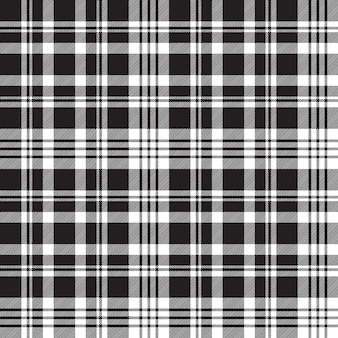Diagonal black white plaid seamless pattern