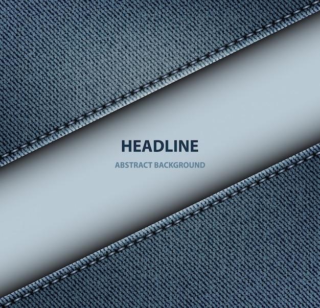 Diagonal denim stripe background