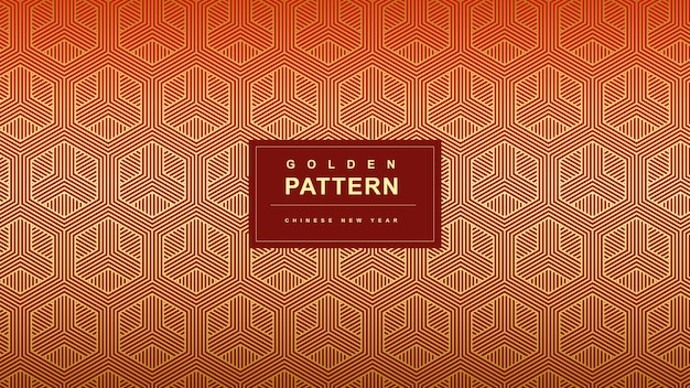 Diagonal golden pattern chinese new year background
