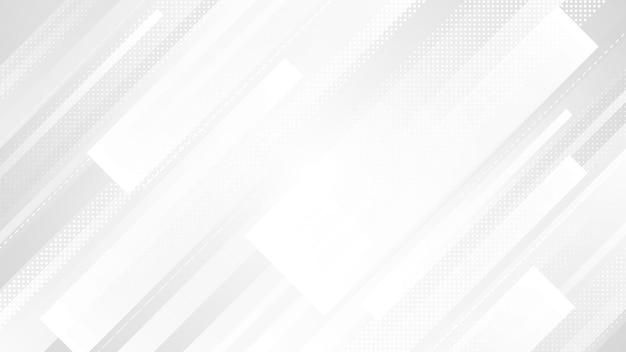 Диагональный абстрактный фон в оттенках серого, украшенный точками в горизонтальном изображении.