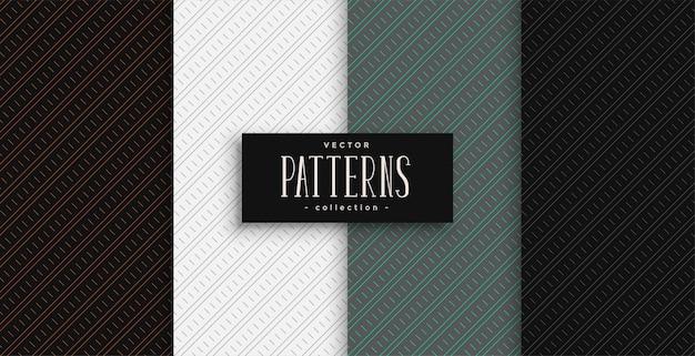 Motivo geometrico di linee diagonali impostato in colori professionali