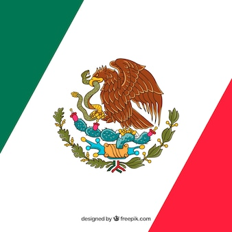 Diagonal mexican flag background