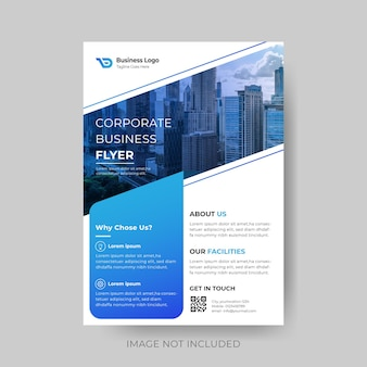 Diagonal modern corporate business flyer design