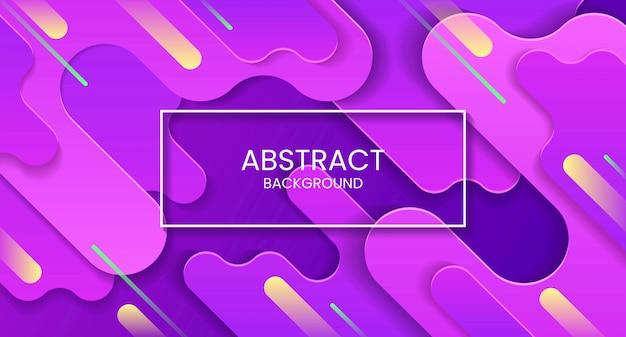 Диагональный фиолетовый абстрактный фон с желтыми и зелеными полосами