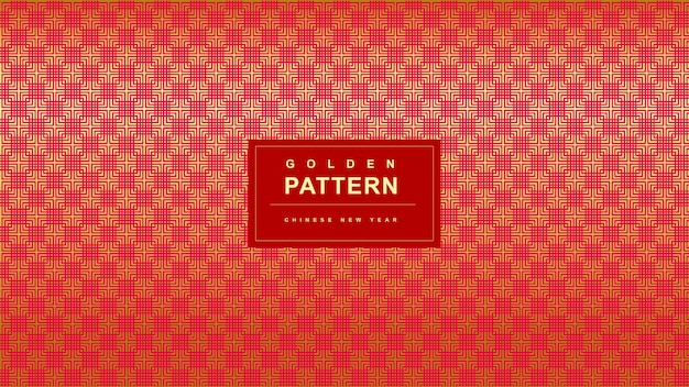 Diagonal red golden pattern chinese new year background