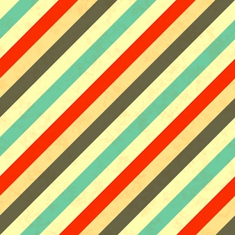 Diagonal stripes retro colours, seamless pattern