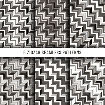 Diagonal zigzag line seamless pinstripe vector backgrounds