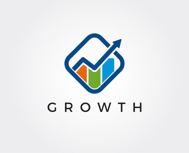 図と財務のロゴのテンプレート