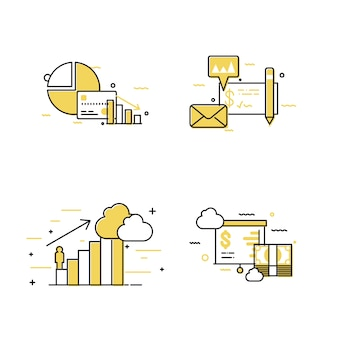 Diagram business concept icon set