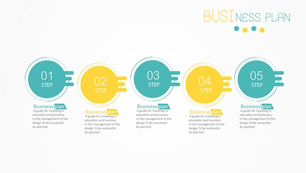 Diagram business and education vector illustration