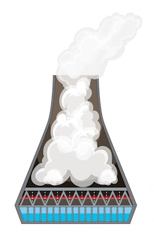 Диаграмма, показывающая дым в дымоходе